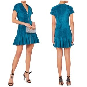 Alexis Women's Jaelynn Blue Suede Mini Dress